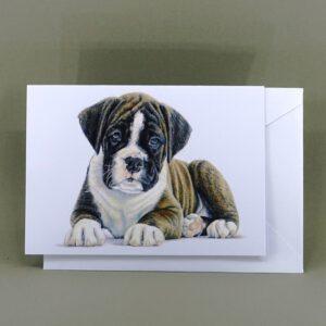 kaart boxer pup
